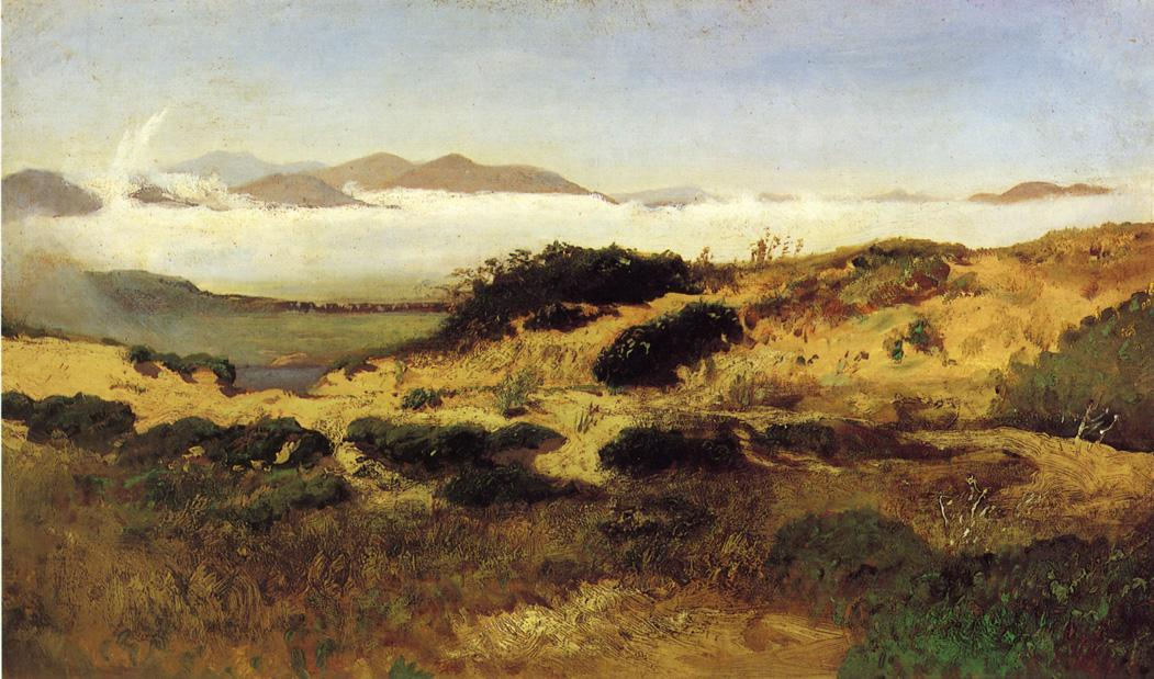 Sand Dunes and Fog, San Francisco, 1880 by William Keith (1838-1911, Scotland) | Art Reproductions William Keith | WahooArt.com
