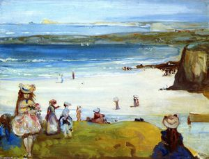 Charles Edward Conder - The Sands, Newquay