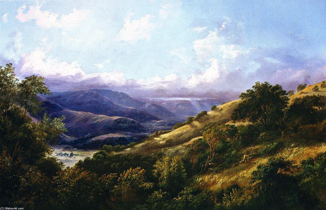 San Anselmo Valley near San Rafael, 1868 by William Keith (1838-1911, Scotland) | Famous Paintings Reproductions | WahooArt.com