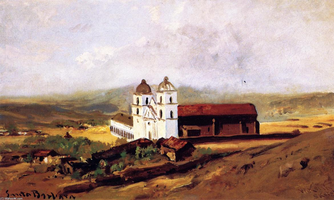 Order Reproductions | Santa Barbara Mission, 1883 by William Keith (1838-1911, Scotland) | WahooArt.com