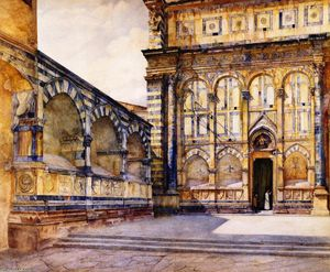 Buy Museum Art Reproductions | Santa Maria Novella, Florence, Italy, 1884 by Henry Roderick Newman (1833-1918, United States) | WahooArt.com