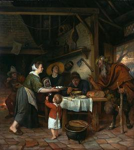 Jan Steen - Satyr and the Peasant Family