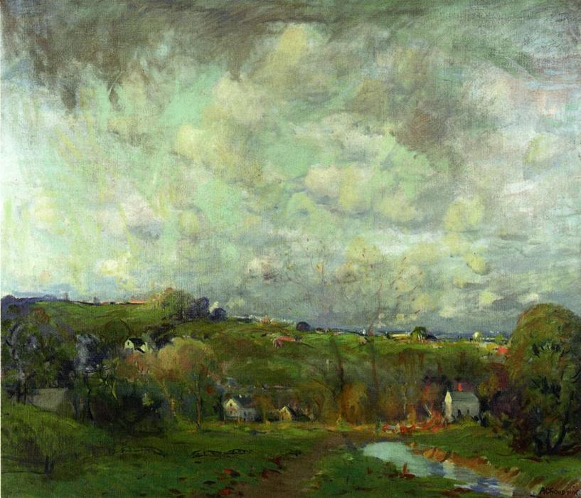 Saugus Marshes by Arthur Clifton Goodwin (1864-1929, United States) | WahooArt.com