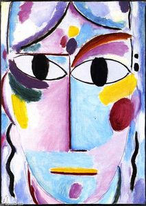 Alexej Georgewitsch Von Jawlensky - Savior's Face: Head with Open Eyes