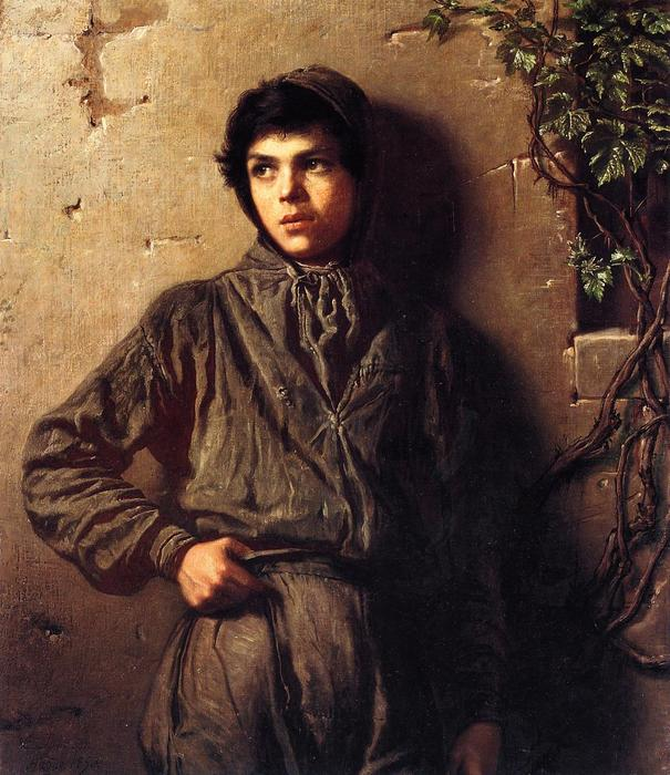 The Savoyard Boy, 1853 by Jonathan Eastman Johnson (1824-1906, United Kingdom) | Art Reproduction | WahooArt.com