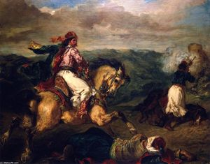 Eugène Delacroix - Scene from the War between the Turks and Greeks