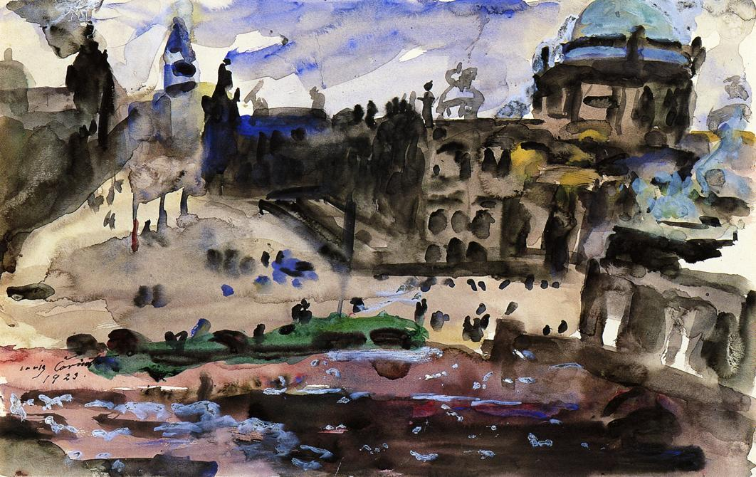 Schlossfreiheit, Berlin, Watercolour by Lovis Corinth (Franz Heinrich Louis) (1858-1925, Netherlands)