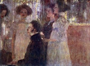 Gustav Klimt - Schubert at the piano I