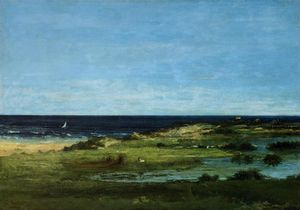 Gustave Courbet - Seacoast (also known as Souvenir of Les Cabanes)