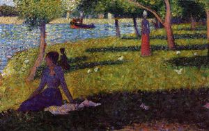 Georges Pierre Seurat - Seated and Standing Woman