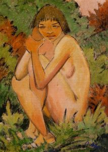 Otto Mueller - Seated Nude in the Countryside