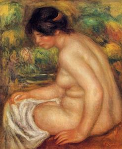 Pierre-Auguste Renoir - 'Seated Nude in Profile (also known as Gabrielle)'