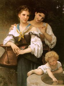 William Adolphe Bouguereau - The Secret