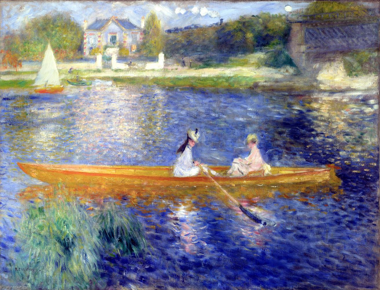 The Seine at Asnieres (also known as The Skiff), Oil On Canvas by Pierre-Auguste Renoir (1841-1919, France)