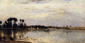Stanislas Lepine - The Seine at Ile Saint-Denis