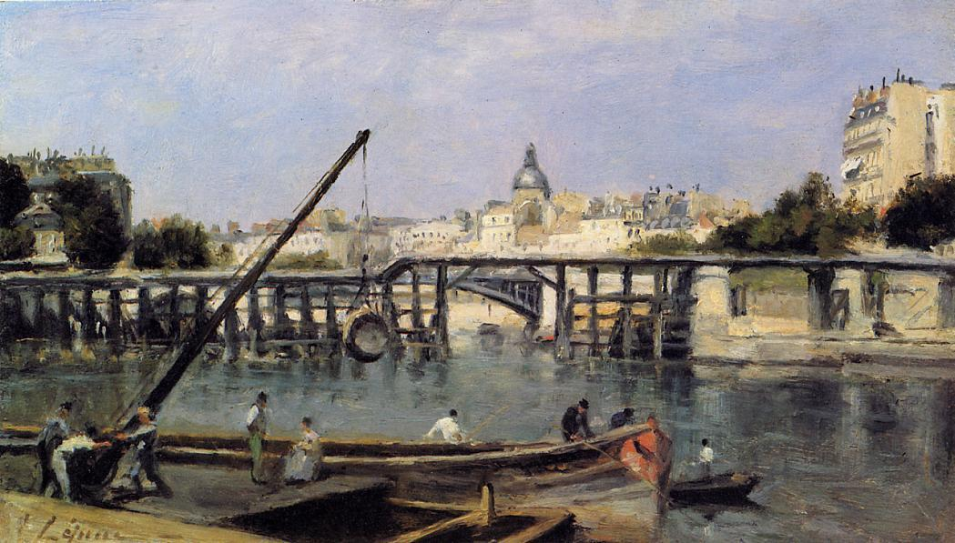 Order Museum Quality Copies | The Seine at Ile Saint-Denis, 1870 by Stanislas Lepine (1835-1892, France) | WahooArt.com