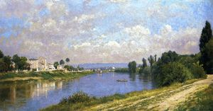 Stanislas Lepine - The Seine at la Garenne Saint-Denis