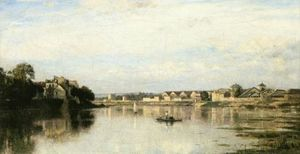 Stanislas Lepine - The Seine at l-Ile Saint-Denis