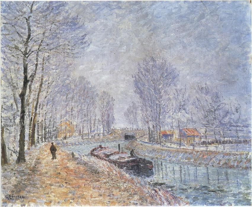The Seine at Pontoise by Gustave Loiseau (1865-1935, France) | Oil Painting | WahooArt.com