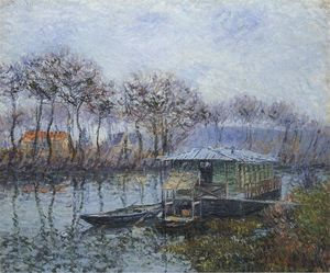 Gustave Loiseau - The Seine at Port Marly
