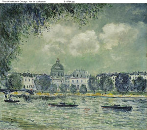 Alfred Sisley - The Seine with the Institute of France