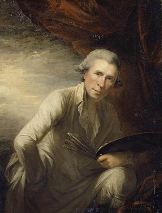 Self portrait, 1802 by George Romney (1734-1802, United Kingdom) | Art Reproductions George Romney | WahooArt.com