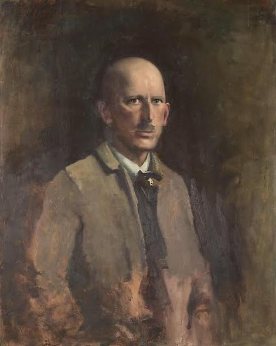 Self portrait, 1918 by Abbott Handerson Thayer (1849-1921, United States)