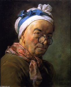 Jean-Baptiste Simeon Chardin - Self Portrait (also known as Portrait of Chardin Wearing Spectacles)