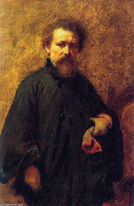 Self Portrait, 1860 by Jonathan Eastman Johnson (1824-1906, United Kingdom) | WahooArt.com