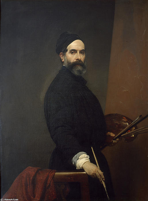 Self portrait by Francesco Hayez (1791-1882, Italy) | Museum Quality Reproductions | WahooArt.com