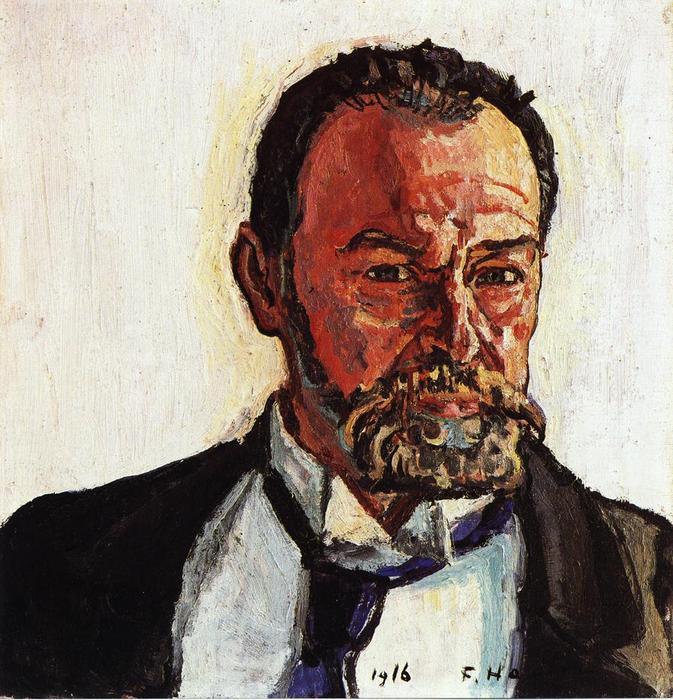 Self portrait, Oil On Canvas by Ferdinand Hodler (1853-1918, Switzerland)