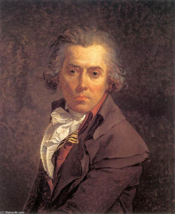 Self-Portrait, Oil On Canvas by Jacques Louis David (1748-1800, France)
