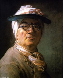 Jean-Baptiste Simeon Chardin - Self Portrait (also known as Portrait of Chardin Wearing an Eyeshade)