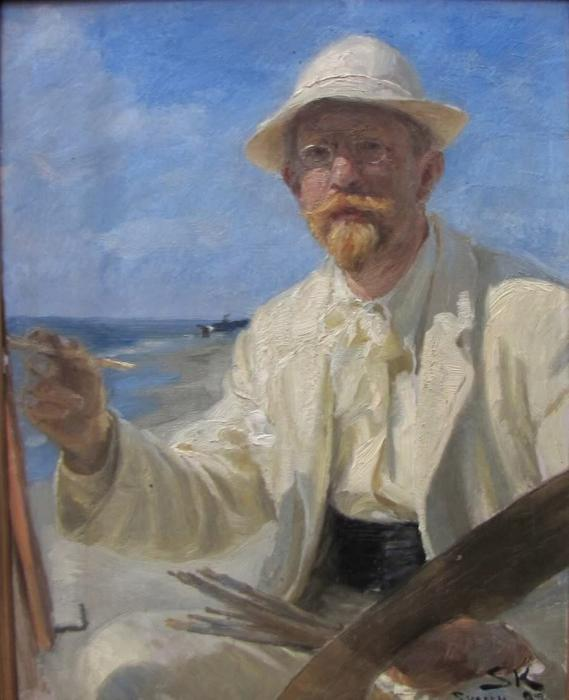 Self portrait, 1897 by Peder Severin Kroyer (1851-1909, Norway) | Famous Paintings Reproductions | WahooArt.com