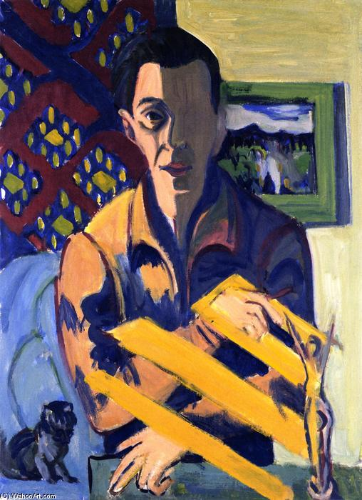 Self-portrait, 1925 by Ernst Ludwig Kirchner (1880-1938, Germany) | WahooArt.com