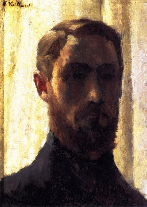 Self-Portrait against the LIght, 1888 by Jean Edouard Vuillard (1868-1940, France) | Painting Copy | WahooArt.com