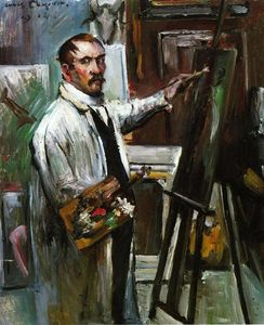Lovis Corinth (Franz Heinrich Louis) - Self Portrait in the Studio