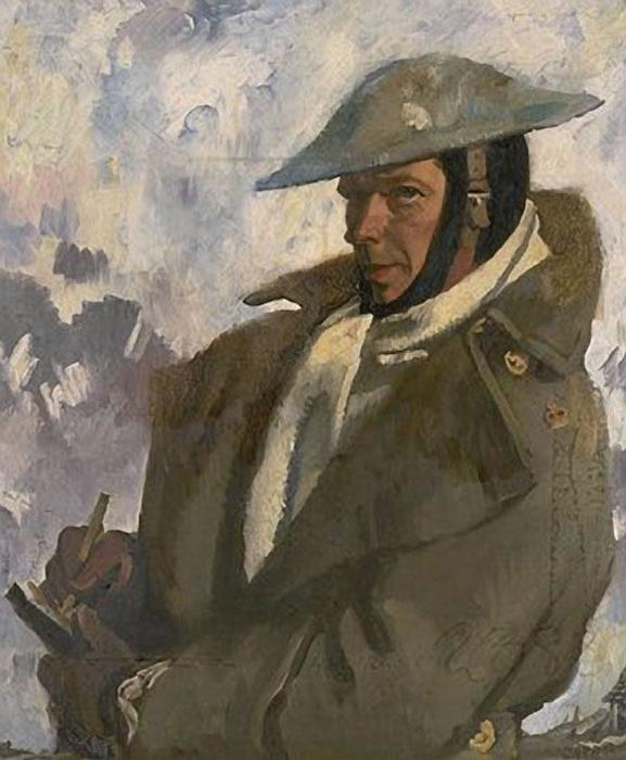 Self Portrait in Uniform, 1917 by William Newenham Montague Orpen (1878-1931, Ireland)