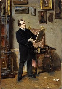 Giovanni Boldini - Self-portrait while looking at a painting
