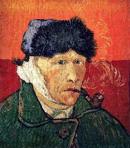 Vincent Van Gogh - Self Portrait with Bandaged Ear and Pipe