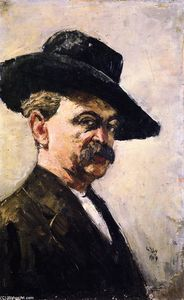 Lesser Ury - Self-Portrait with Dark Hat