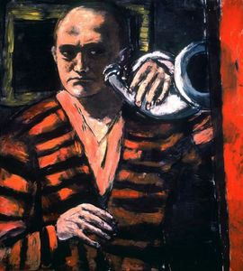 Max Beckmann - Self-Portrait with Horn