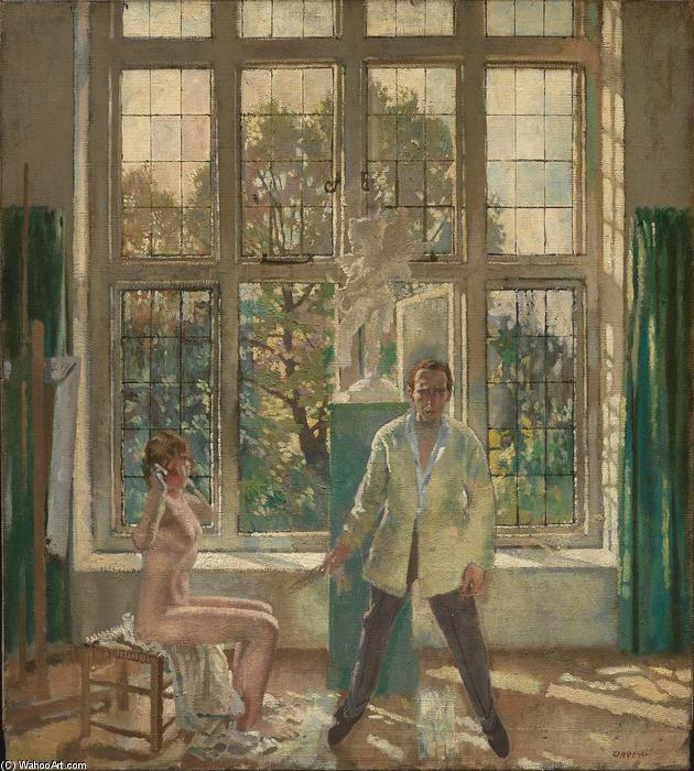 Selfportrait with model (also known as Summer Afternoon), 1905 by William Newenham Montague Orpen (1878-1931, Ireland)