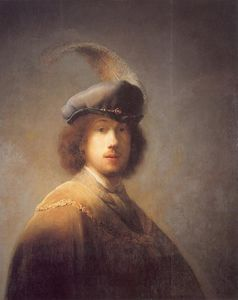 Rembrandt Van Rijn - Self Portrait with Plumed Beret