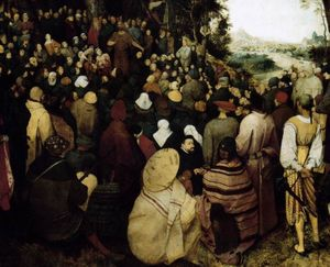 Pieter Bruegel The Elder - The Sermon of St John the Baptist (detail)