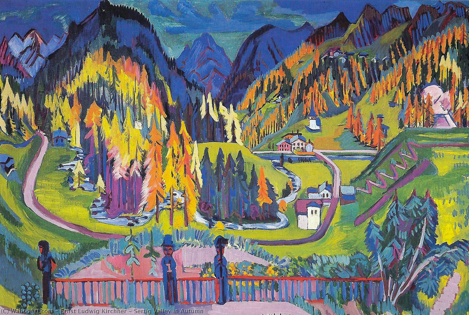 Sertig Valley in Autumn, 1925 by Ernst Ludwig Kirchner (1880-1938, Germany) | WahooArt.com