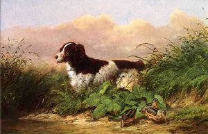 Arthur Fitzwilliam Tait - Setter and Woodcock