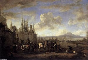 Philips Wouwerman - Setting out on the Hunt