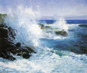 Guy Orlando Rose - The Sea View of Cliffs