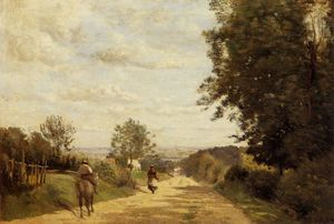 Jean Baptiste Camille Corot - The Sevres Road